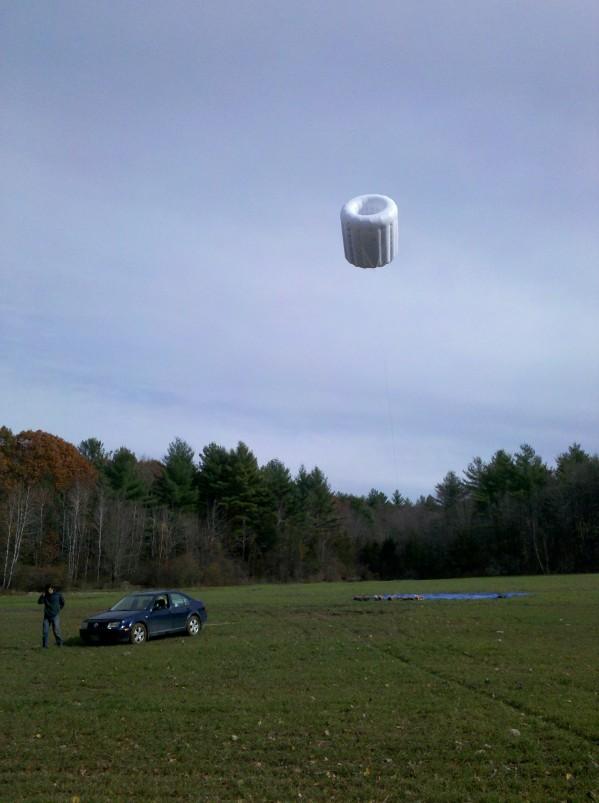 Prototype éolienne gonflable