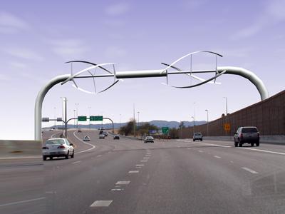 des éoliennes sur les autoroutes